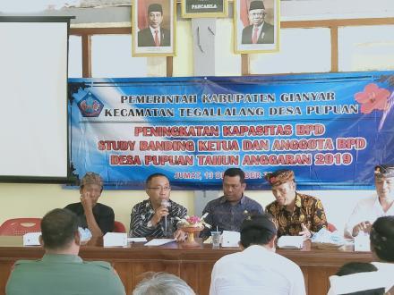 BPD Desa Pupuan, Kecamatan Tegallalang, Kabupaten Gianyar Laksanakan Study Orientasi ke Desa Munduk